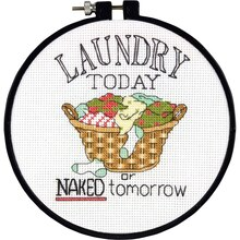 Dimensions Learn A Craft® Counted Cross Stitch Kit, Laundry Today
