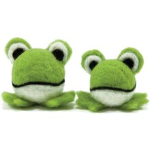 Dimensions Round & Woolies Needle Felting Kit, Frogs