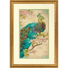 Dimensions Counted Cross Stitch Kit, Indian Peacock