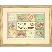 Dimensions Stamped Cross Stitch Kit, Bare Feet Welcome
