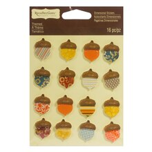 Fall Acorn Dimensional Stickers by Recollections Signature