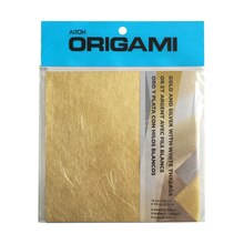 Aitoh Origami Paper, Gold & Silver with White Threads