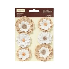 Burlap Fabric Blooms by Recollections Signature