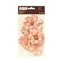 Vintage Coral Flower Embellishments by Recollections Signature