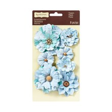 Vintage Mint Flower Embellishments by Recollections Signature