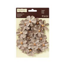 Beaded Kraft Flowers by Recollections Signature