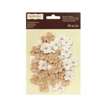 White & Burlap Mini Florettes by Recollections Signature