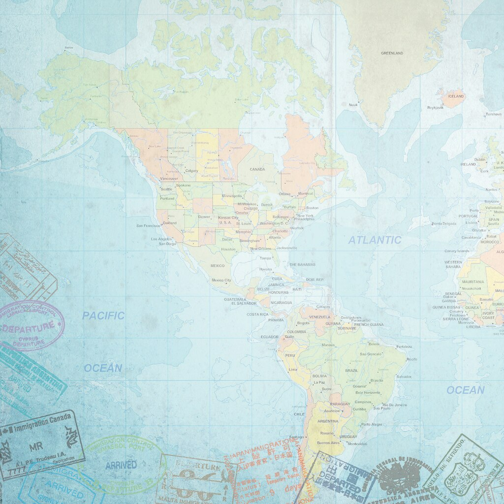 Find The Paper House Scrapbook Paper Western Hemisphere At Michaels - Michaels us map
