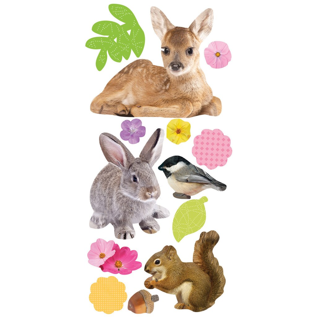 buy the paper house 3d puffy stickers spring baby animals at