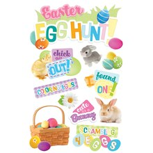 Paper House 3D Stickers, Easter Egg hunt