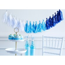 Paper Craft It™ Blue Ombre Tassel Banner, medium
