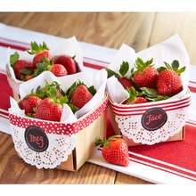 Paper Craft It™  Red/White Washi Tape-Embellished Berry Baskets, medium