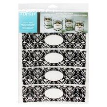 Gartner Studios Vellum Votive Wraps, Damask