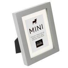 "Gray Mini Frame With Mat by Studio Decor, 2"" x 3"", Angled"