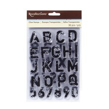 Distressed Alphabet Clear Stamps by Recollections