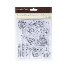 Doodle Birthday Clear Stamps by Recollections