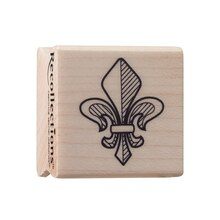 Fleur-De-Lis Small Wood Stamp by Recollections