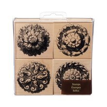 Medallion Flowers Wood Stamp Set by Recollections