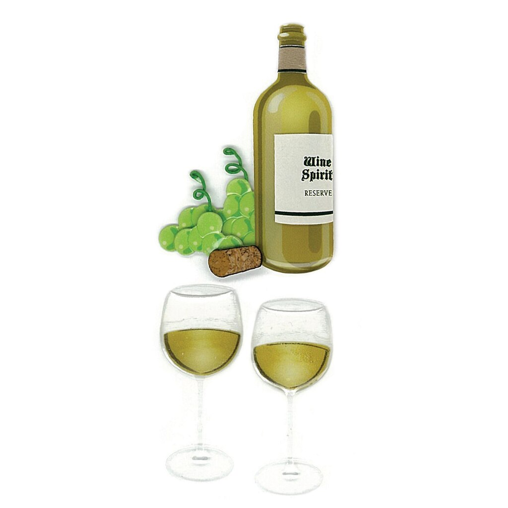 Jolee S By You Dimensional Stickers Wine Gl Bottle