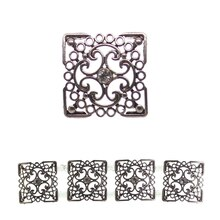 Bead Gallery Rectangle Metallic Sliders, Silver