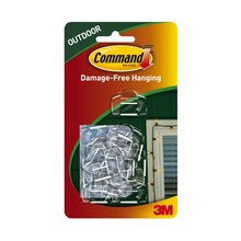 3M Command Outdoor Light Clips, Clear