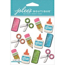 Jolee's Boutique Sticker Pack, School Supplies Repeats