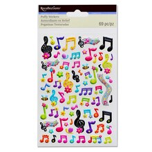 Music Notes Puffy Stickers by Recollections