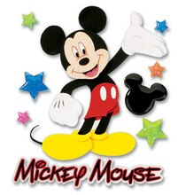 Disney Dimensional Stickers, Mickey Walking