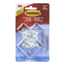 3M Command Clear Jewelry Rack