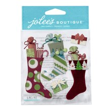 Jolee's Boutique Stickers, Stuffed Stockings
