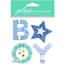 Jolee's Boutique Stickers, Baby Boy Yarn Word
