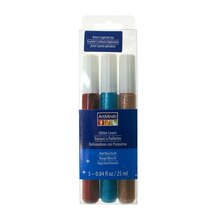 Red, Blue & Gold Glitter Liners by ArtMinds
