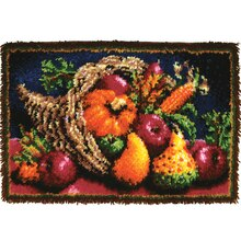 Wonderart Classic Latch Hook Rug Kit, Country Harvest