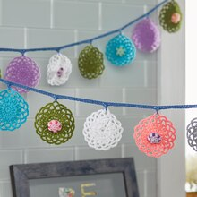Boho Spring Crochet Garland, medium