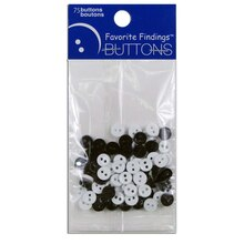Favorite Findings Mini Buttons, Black & White