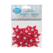 Offray Stylish Accents Lilies Value Pack, Hot Pink