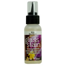 DecoArt Glass Stain Transparent Stain, White