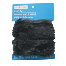 Black Craft Fur Roll by Creatology
