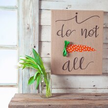 I Do Not Carrot All Quote Art Canvas, medium