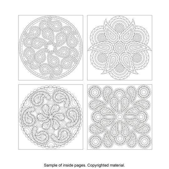 Creative HavenR Paisley Mandalas Coloring Book