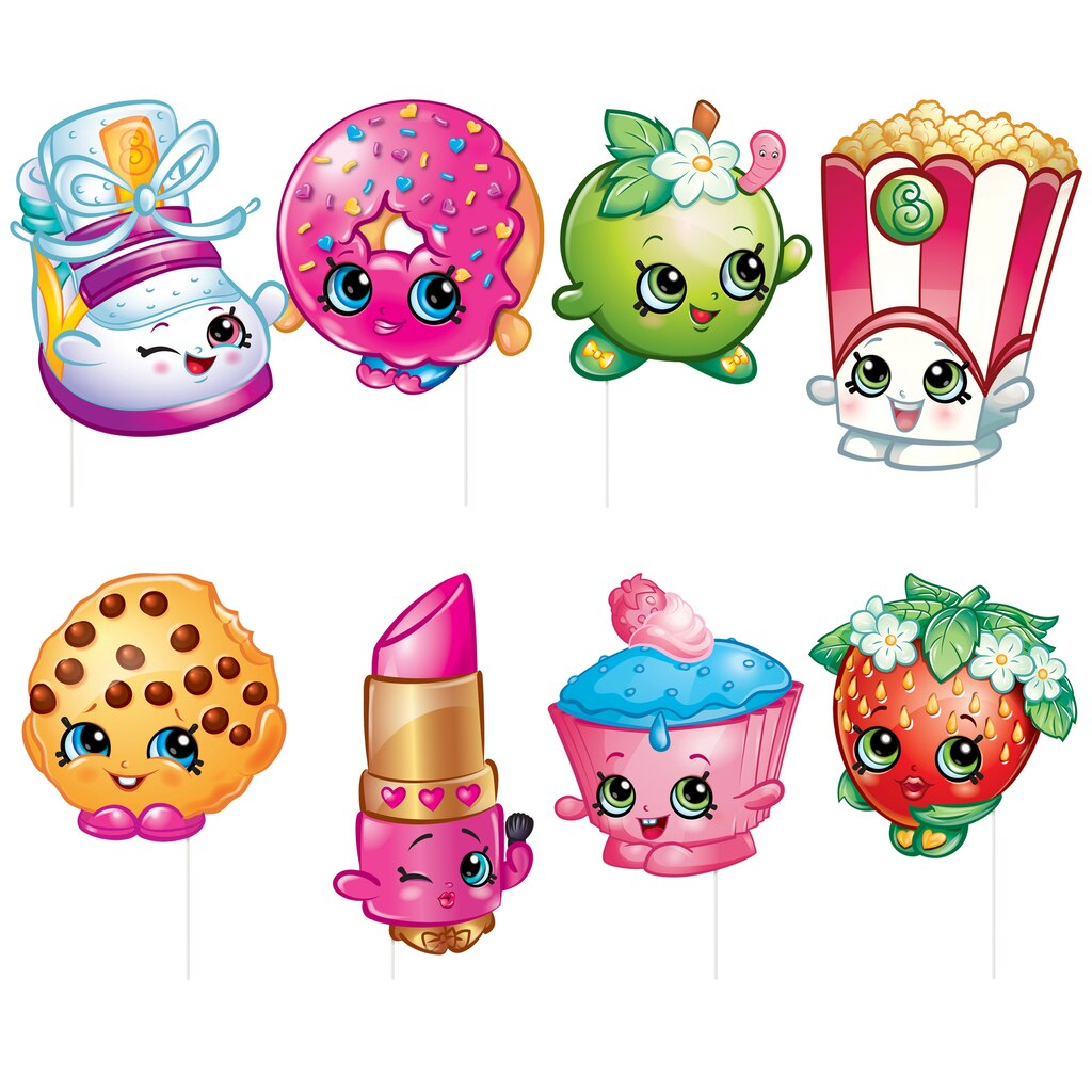 Kids Wall Art Stickers Shopkins Photo Booth Props Shopkins Party Supplies