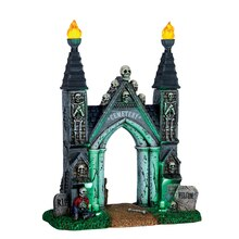Lemax Spooky Town Collection Cemetery Gate, Battery Operated (4.5V)
