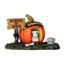 Lemax Spooky Town Collection Pumpkin Doghouse