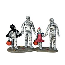 Lemax Spooky Town Collection Trick or Treating with Mummy & Deady, Set of 2