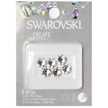 Swarovski Create Your Style Xirius Flat Back Crystals, Clear 7mm Pack