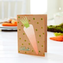 Easter Carrot Celebrate Card, medium