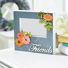 Floral Friends Wood Frame, medium