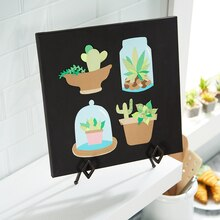 Paper Cactus Canvas Art, medium