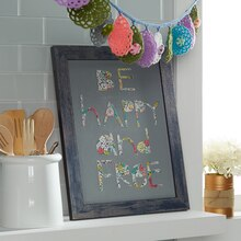 Whimsical Be Happy Paper Canvas Art, medium