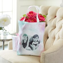 Mother's Day Photo Transfer Canvas Bag, medium